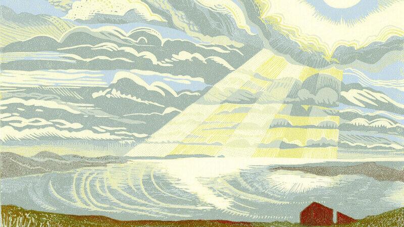 'Spilled Sunlight ' - Cat Moore - Reduction linocut - £350