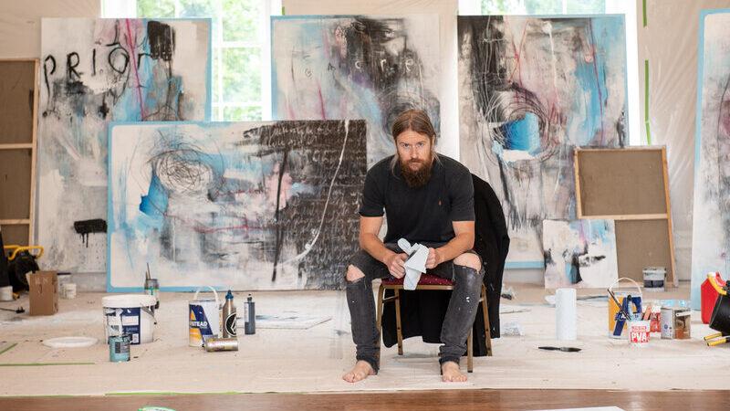 Schoph, Quarantine Paintings Hirst Priory Studio