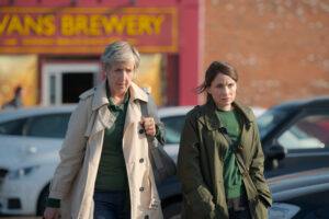 Programme Name: The Pact - TX: n/a - Episode: The Pact - ep 1 (No. 1) - Picture Shows: Nancy (JULIE HESMONDHALGH), Anna (LAURA FRASER) - (C) Little Door (The Pact) - Photographer: Warren Orchard
