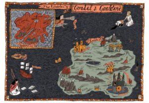 Gondal Map Illustration from 'Glass Town' by Isabel Greenberg