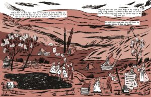 Illustration from 'Glass Town' by Isabel Greenberg
