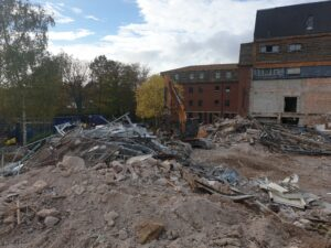 Russel Road mid demolition