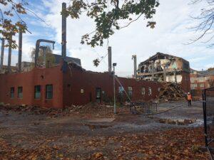Russell Road mid demolition 2