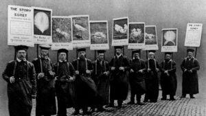 1911 sandwich board parade to save the egret from extinction, Aurum publishers