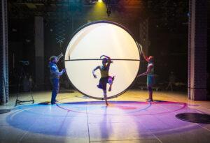 Sean Garratt, Charmene Pang, Kennedy Junior Muntanga in The Global Playground - photo by Tristram Kenton