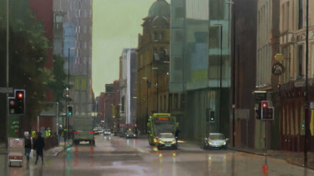 Deansgate and Bridge Street crossover Manchester. 18 x 50.