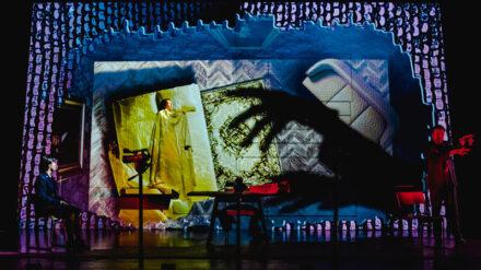 Adela Rajnovic, Riana Duce & Matt Prendergast - imitating the dog & Leeds Playhouse - Dracula The Untold Story - Photo Ed Waring