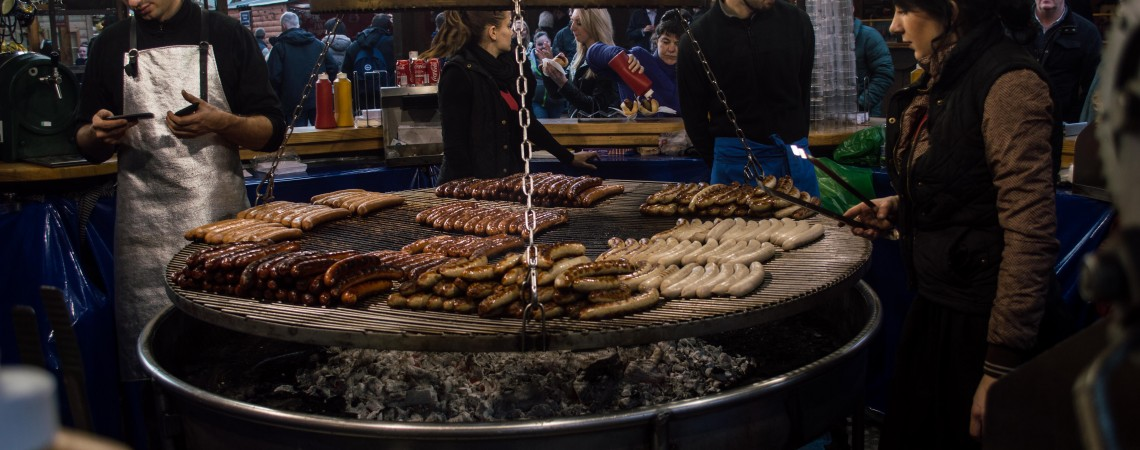 Christmas Markets-Sausages by Chris Payne