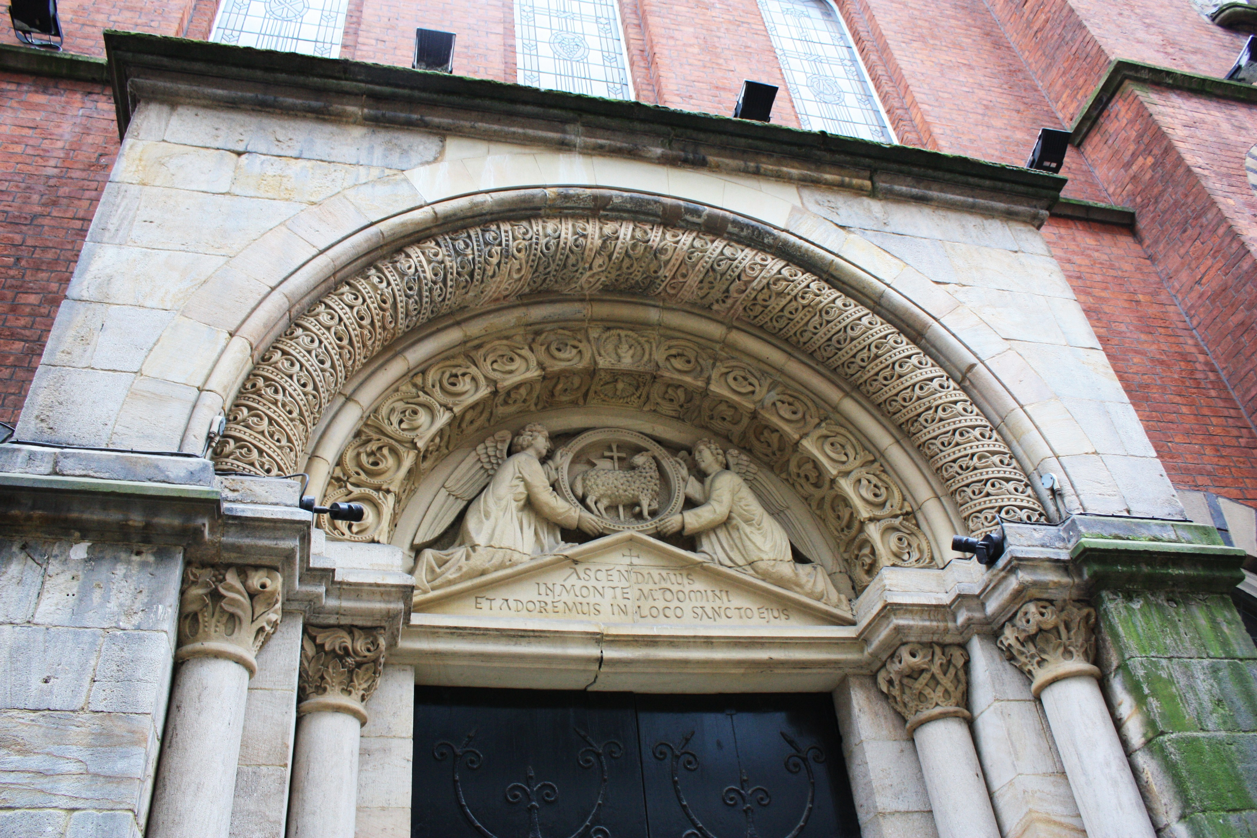 22. Entrance to St. Mary's Roman Catholic Church (I). Mulberry Street, Manchester