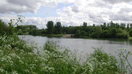 View across lake at Chorlton Water Park