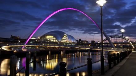 The Sage Gateshead at night credit Mark Savage