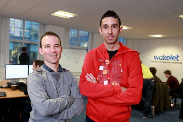 David Curtis COO and Jamil Khalil, CEO and founder Wakelet