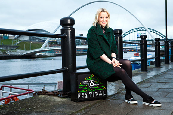 d41512f5 ... BBC Radio 6 Music Festival, Tyneside 2015. Lauren Laverne at the  Newcastle Quayside