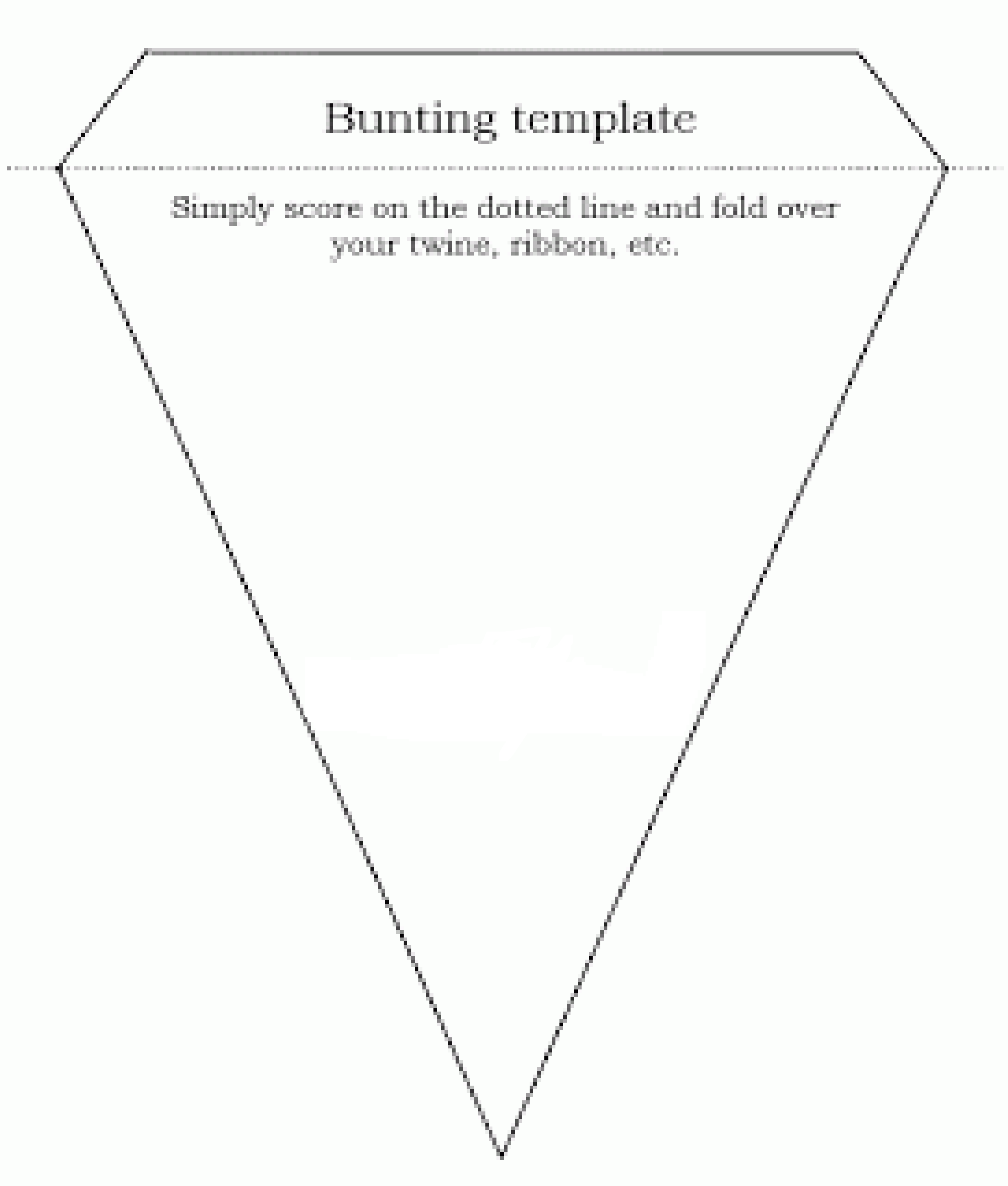 northern soul bunting template