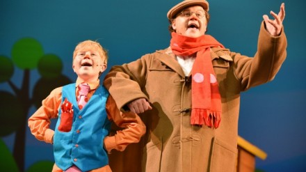 Kai Savage & Justin Fletcher in The Tale of Mr Tumble. MIF15, by Robert Day.