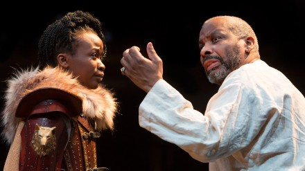 L-R Pepter Lunkuse (Cordelia) & Don Warrington (King Lear) Photo Jonathan Keenan