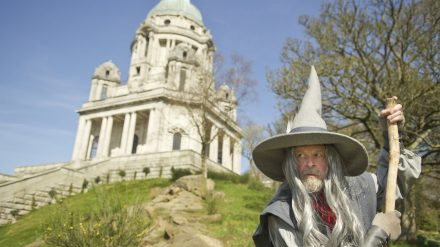 The Hobbit will be presented by The Dukes from July 5-August 13 in Williamson Park%2c Lancaster. Russell Richard is seen here preparing for his role as Gandalf.