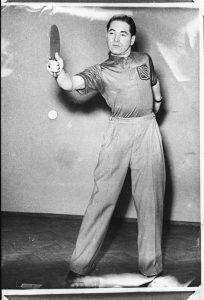 Manchester table tennis champion Hymie Lurie.