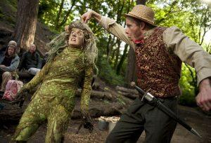 Gollum (Josie Cerise) and Bilbo Baggins (Gareth Cassidy)