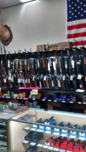 Lynne's local gun store