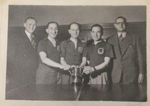 Manchester Maccabi Table Tennis Team, 1959.