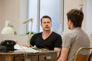Daniel Rigby in rehearsals for Breaking the Code