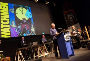 Tintin vs Asterix debate including appointment of new Comics Laureate. Charlie Adlard, creator of The Walking Dead comics is announced as the new Comic Laureate at Kendal International Comic Arts Festival in Kendal. Friday 14th October 2016. HARRY ATKINSON