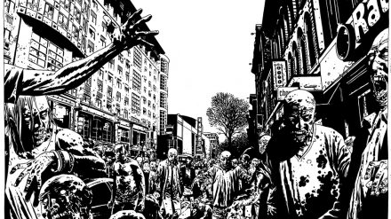The Walking Dead artwork by Charlie Adlard