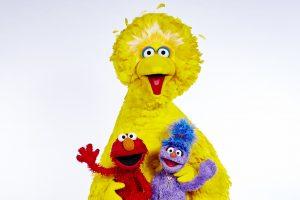 Programme Name: The Furchester Hotel - TX: n/a - Episode: n/a (No. n/a) - Picture Shows: Elmo, Big Bird, Phoebe - (C) BBC - Photographer: Jon Shard