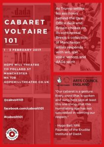 Cabaret Voltaire 101 poster, Hope MIll Theatre