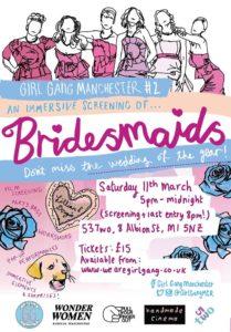 Girl Gang Mancester, Bridesmaids poster