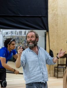 Elliott Kingsley and Patrick Brennan. Fiddler On The Roof in rehearsal. Photograph by Brian Roberts