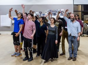 The Everyman Company in rehearsal for Fiddler On The Roof. Photograph by Brian Roberts