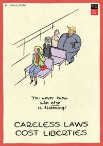 Open Rights Group Careless Laws Poster, Richard Littler