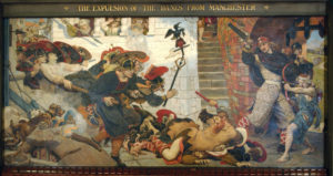 Mural The Expulsion Of The Danes From Manchester, image by Manchester Town Hall Press Office