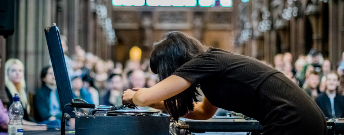 Naomi Kashiwagi at John Rylands Library for Manchester After Hours by Ben Williams - Copy