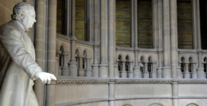 Town Hall balcony , image by Manchester Town Hall press office