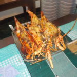 Lobster cooked by our private chef, Sammy