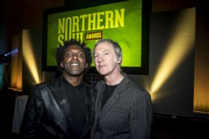 Lemn Sissay and Clint Boon
