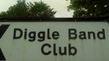 Diggle Band Club sign
