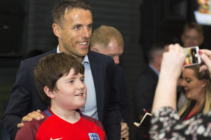 Phil Neville at Cafe Football