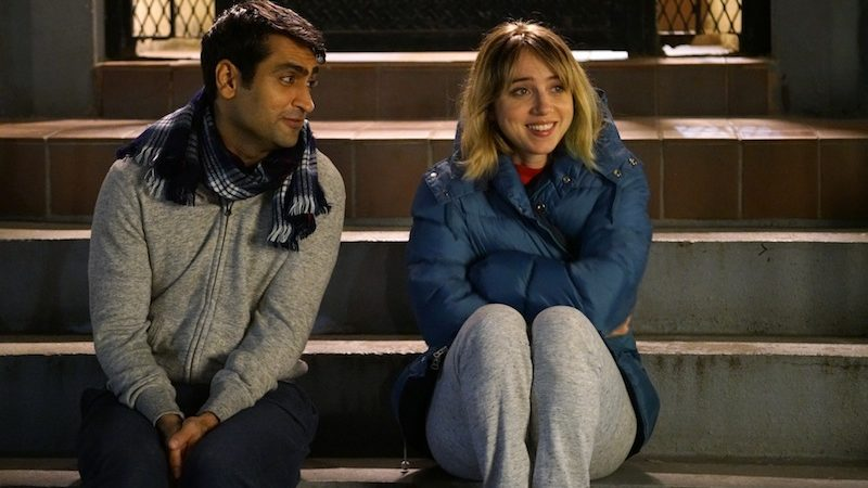 "Kumail Nanjiani as ""Kumail"" and Zoe Kazan as ""Emily"" in THE BIG SICK. Photo by Sarah Shatz."