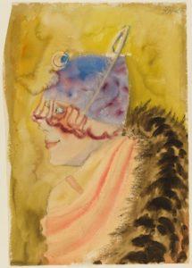 Otto Dix, Girl in Fur (Mädchen im Pelz) 1927