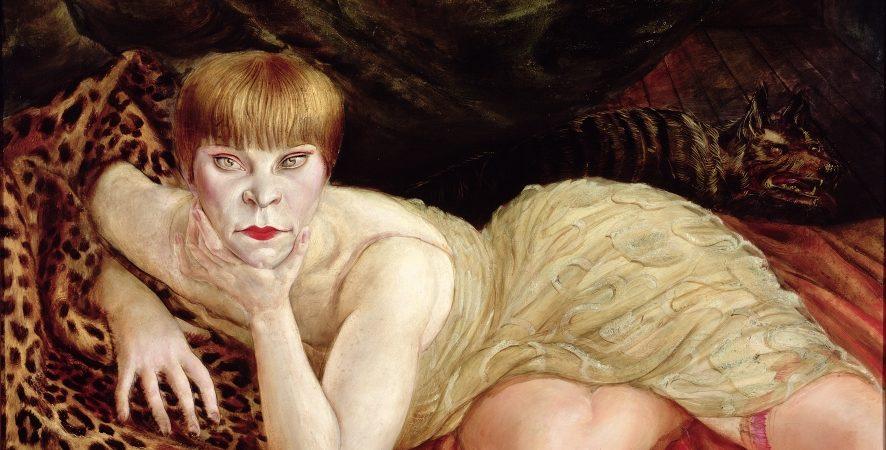 Otto Dix, Reclining Woman on a Leopard Skin 1927 (Liegende auf Leopardenfell) 1927