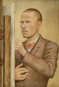 Otto Dix, Self-Portrait with Easel 1926
