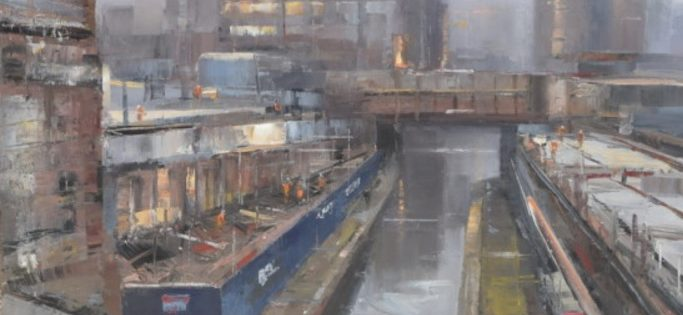 Painting the North: Construction by the Rochdale Canal, Steven Bewsher