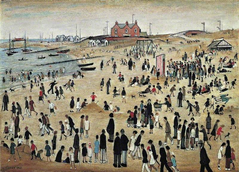 Lowry, Laurence Stephen, 1887-1976; July, the Seaside