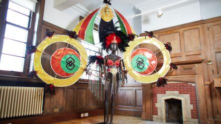 A carnival queen costume. Credit David Lindsay
