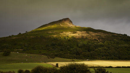 Roseberry Topping - storm light.