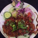 Onion bahji, starter at The Royal Batli House in Farnworth